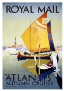 "Vintage Advertising Shipping Poster - Royal Mail ""Atlantis"" Autumn Cruises Poster"